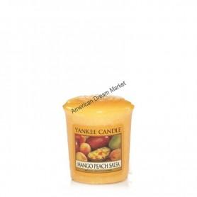 Votive mango peach salsa