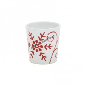 Support votive snowflakes ceramic