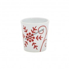 Support votive snowflakes ceramic