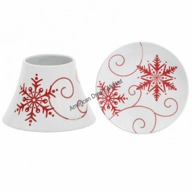 Support jarre PM snowflakes ceramic