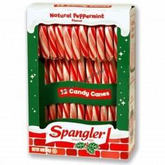 Candy cane classic peppermint ropuge et blanc par 12