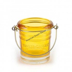 Support votive bucket jaune