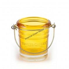 Support votive bucket jaune