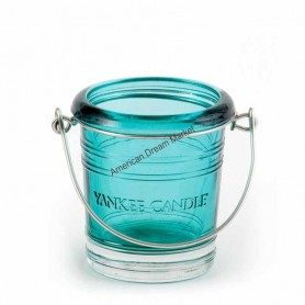 Support votive bucket turquoise