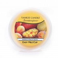 Easy melt cup mango peach salsa