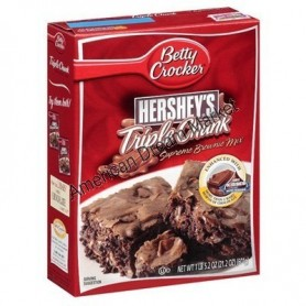 'BETTY CROCKER PREPARATION BROWNIE TRIPLE CHOCOLAT HERSHEY''S'
