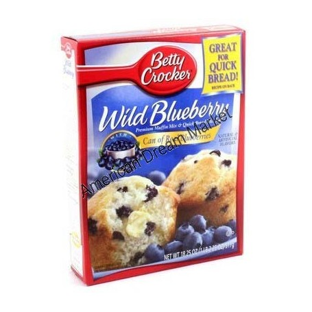 Betty Crocker preparation muffin blueberrie myrtilles