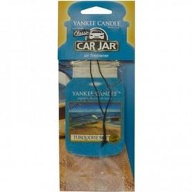 Classic car jar turquoise sky