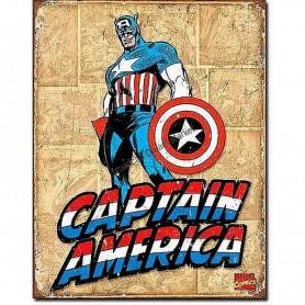 Captain america retro panels