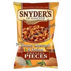Snyder's of hanover pretzel pieces honey mustard and onion