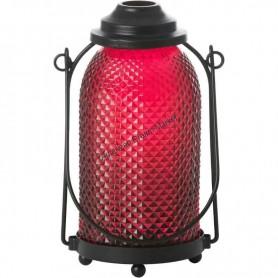 Photophore glass lantern orange