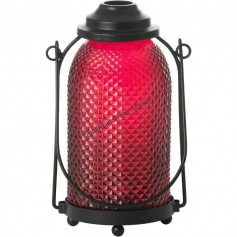 Photophore glass lantern orange