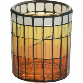 Photophore glass lantern jaune