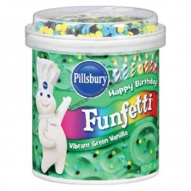 Funfetti aqua blue vanilla frosting