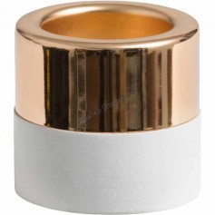 Photophore lumignon white wood and metal or