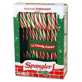 Candy cane classic peppermint rouge et blanc par 12