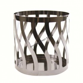 Support colonne PM crosshatch brass