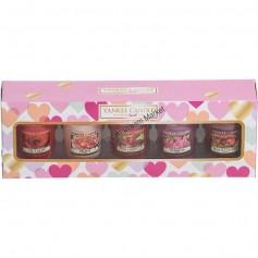 Coffret 5 votives st valentin