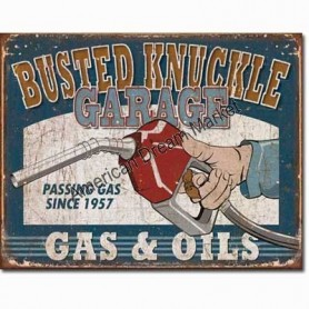 Busted knuckle gas and oils