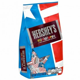 Hershey's miniatures red white and blue