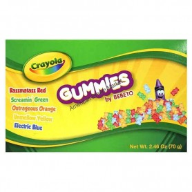 Crayola sour neon gummies box
