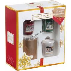 Coffret 3 votives et photophore the perfect christmas