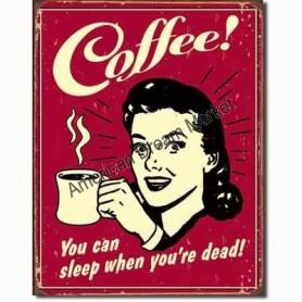 Coffee sleap when dead