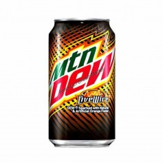 Mountain dew live wire orange