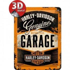 Plaque harley davidson garage 3D