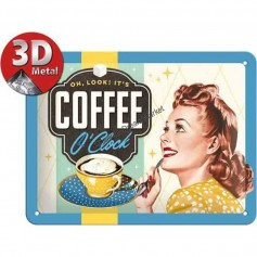 Plaque coffe o'clock 3D