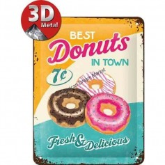 Plaque best donuts in town 3D