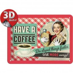Plaque have a coffee 3D
