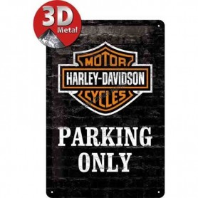 Plaque harley davidson parking 3D