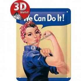 Plaque we can do it 3D
