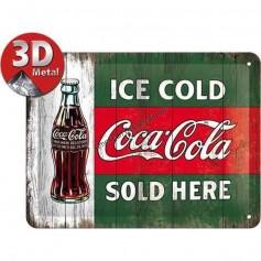 Plaque ice cold coca cola 3D