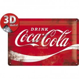 Plaque drink coca-cola 3D
