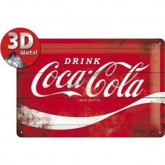 Plaque drink coca-cola 3D