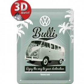 Plaque retro bulli 3D