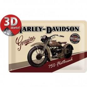 Plaque harley davidson 750 flathead 3D