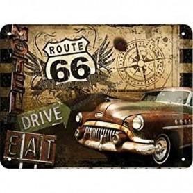 Plaque route 66 drive eat 3D