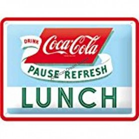 Plaque coca cola lunch 3D