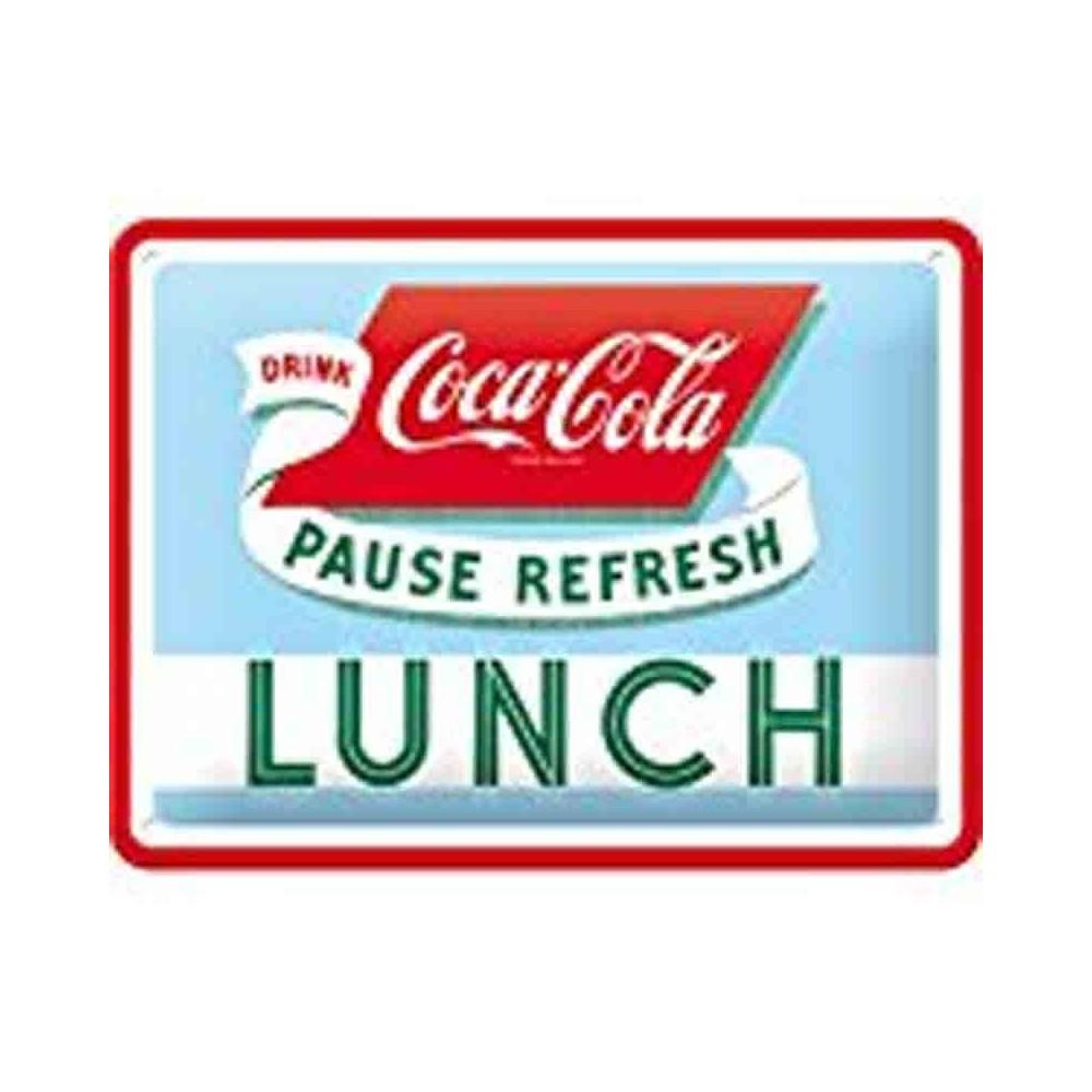 plaque coca cola lunch 3d american dream market. Black Bedroom Furniture Sets. Home Design Ideas