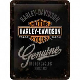 Plaque harley davidson trade mark 3D