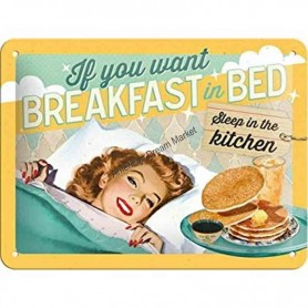 Plaque breakfast in bed 3D
