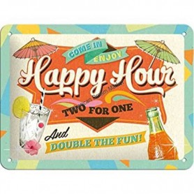 Plaque happy hour 3D