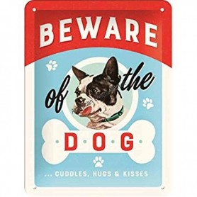 Plaque beware dog 3D