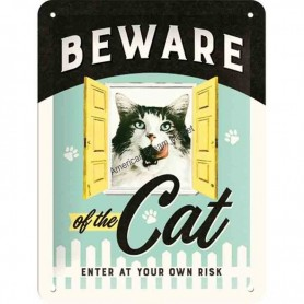 Plaque beware cat 3D