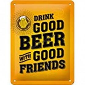 Plaque drink good beer 3D