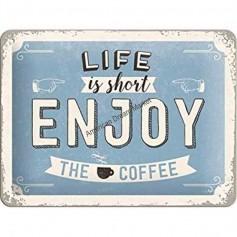 Plaque enjoy the coffee 3D