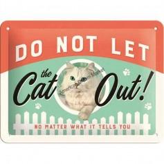 Plaque cat out 3D